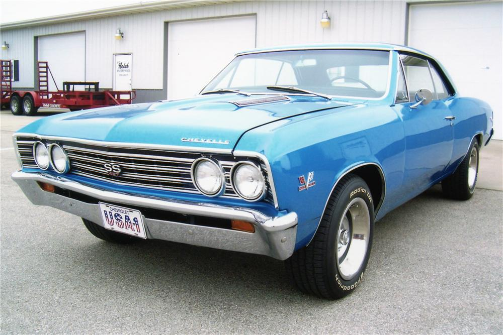 1967 CHEVROLET CHEVELLE CUSTOM COUPE - Front 3/4 - 81298