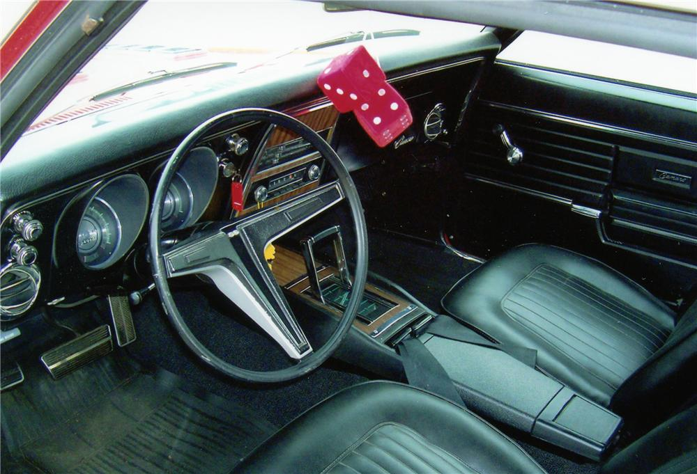 1968 CHEVROLET CAMARO COUPE - Interior - 81299