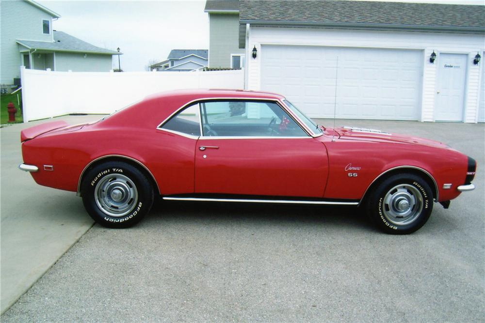 1968 CHEVROLET CAMARO COUPE - Side Profile - 81299