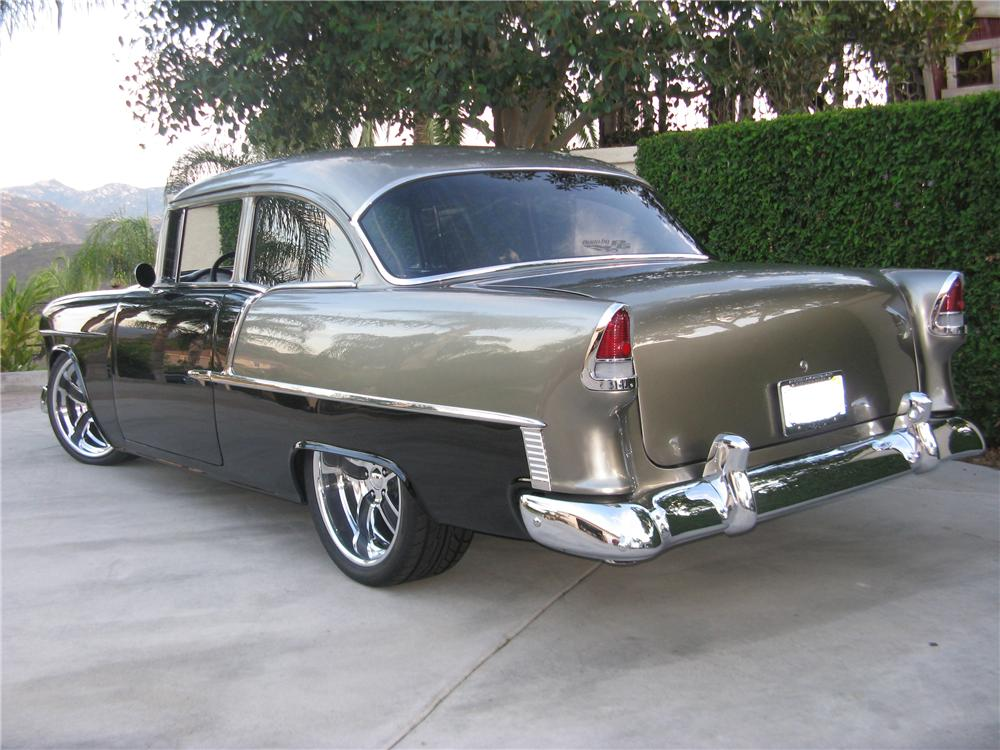 1955 CHEVROLET 210 CUSTOM 2 DOOR - Rear 3/4 - 81304