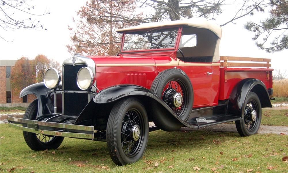 1930 CHEVROLET ROADSTER PICKUP - Front 3/4 - 81323