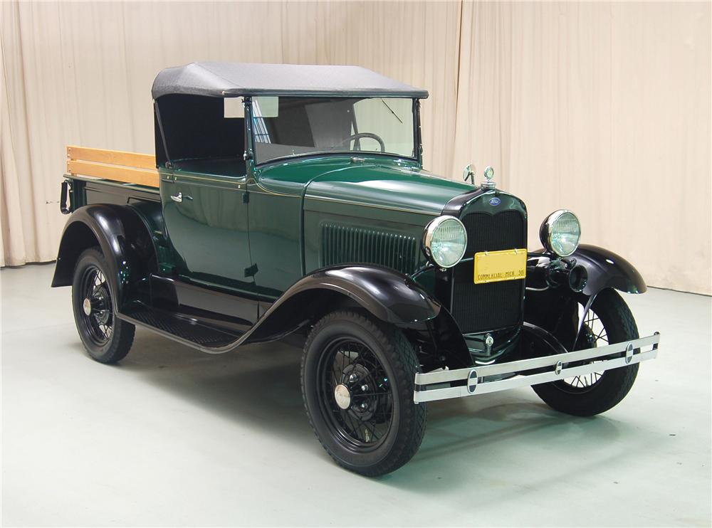 1930 FORD MODEL A ROADSTER PICKUP - Front 3/4 - 81329