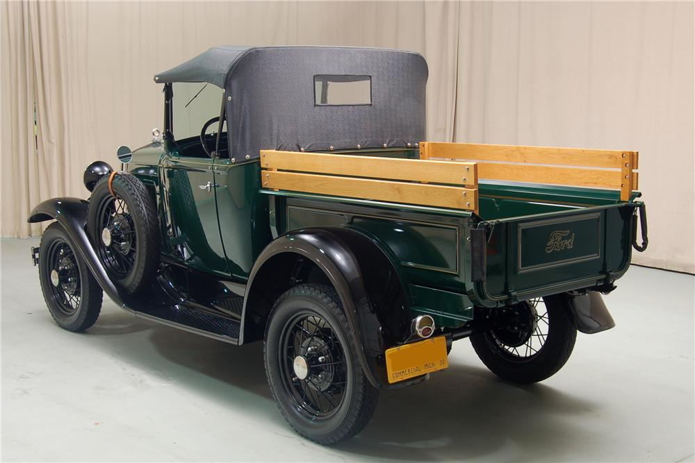 1930 FORD MODEL A ROADSTER PICKUP - Rear 3/4 - 81329