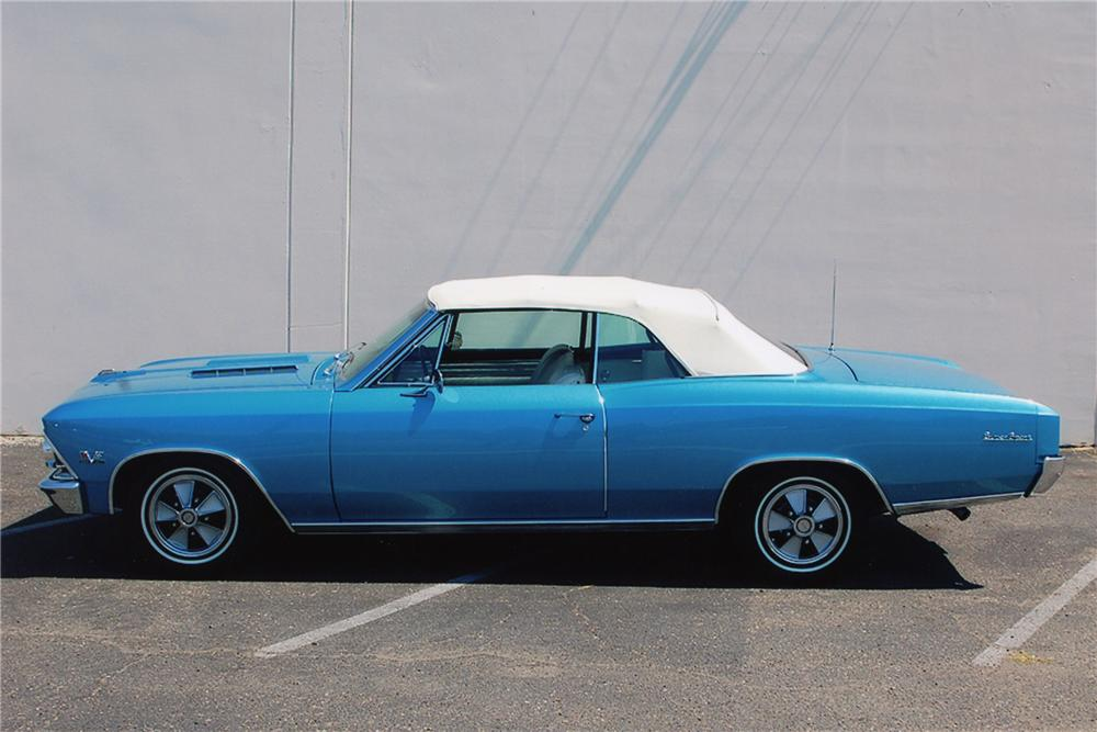 1966 CHEVROLET CHEVELLE SS 396 CONVERTIBLE - Side Profile - 81337