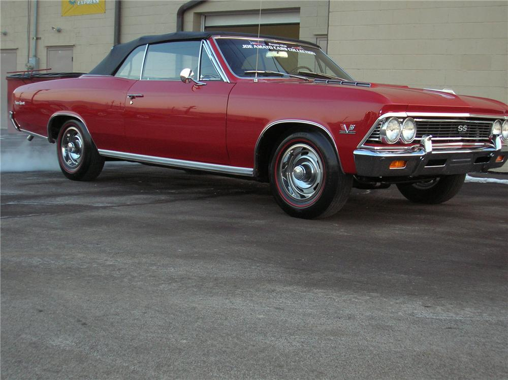 1966 CHEVROLET CHEVELLE SS 396 CONVERTIBLE - Side Profile - 81338