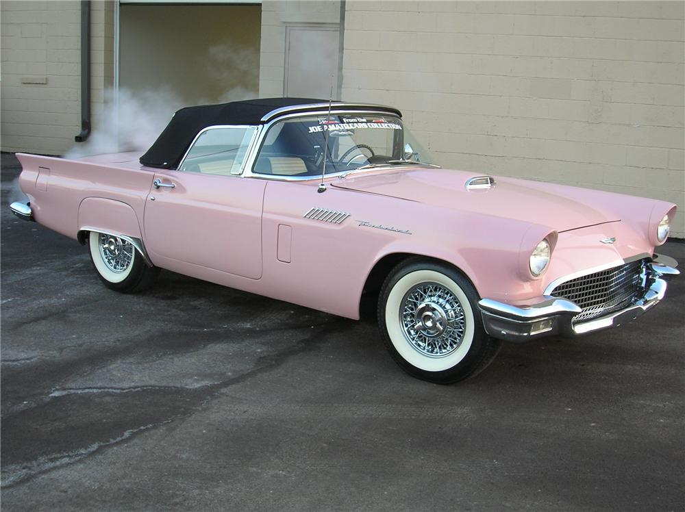 1957 FORD THUNDERBIRD E CONVERTIBLE - Side Profile - 81339