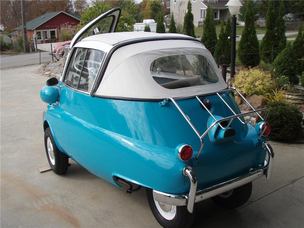 1957 BMW ISETTA 300 CONVERTIBLE - Rear 3/4 - 81341
