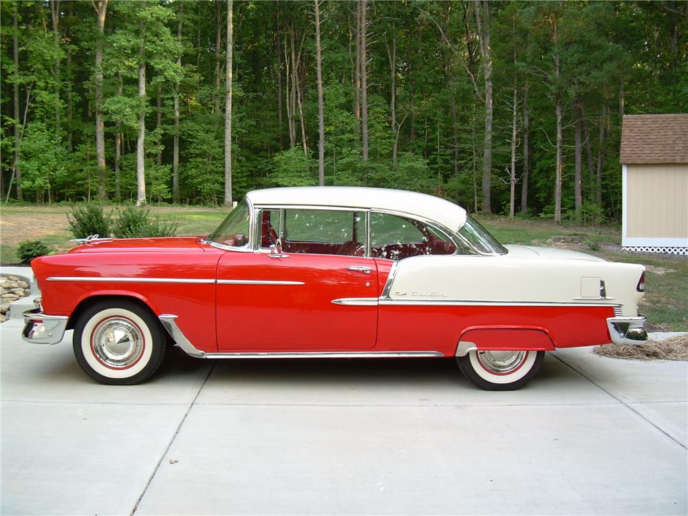 1955 CHEVROLET BEL AIR 2 DOOR HARDTOP - Side Profile - 81344