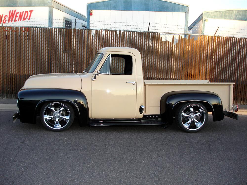 1955 FORD F-100 CUSTOM PICKUP - Side Profile - 81352