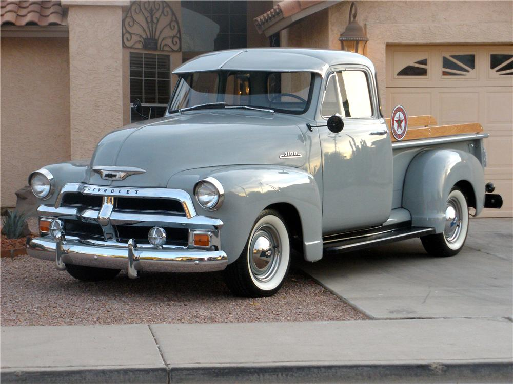 1954 CHEVROLET 3100 5 WINDOW PICKUP - Front 3/4 - 81358