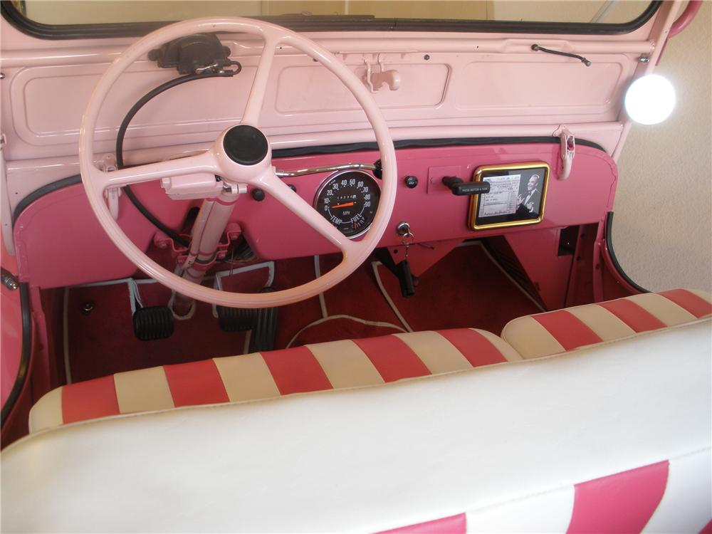 "1963 WILLYS DJ-3A SURREY GALA ""RED SKELTONS"" - Interior - 81369"
