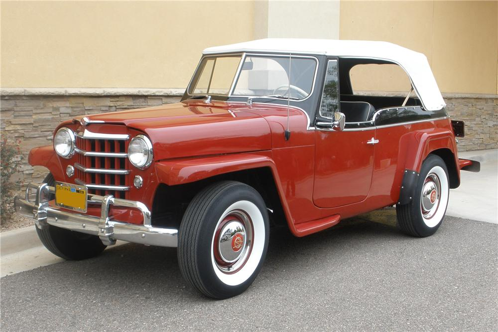 1951 WILLYS JEEPSTER CONVERTIBLE - Front 3/4 - 81370