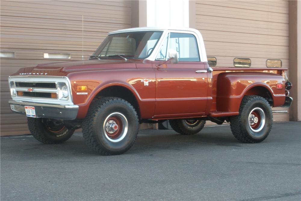 1968 CHEVROLET C 10 SHORTBOX PICKUP 81372 on 1970 gmc truck