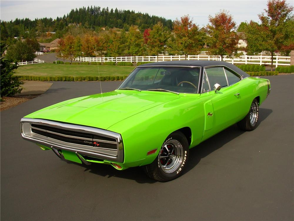 1970 DODGE CHARGER R/T 2 DOOR HARDTOP - Front 3/4 - 81378