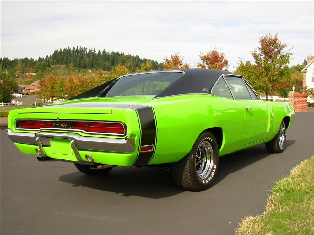 1970 DODGE CHARGER R/T 2 DOOR HARDTOP - Rear 3/4 - 81378