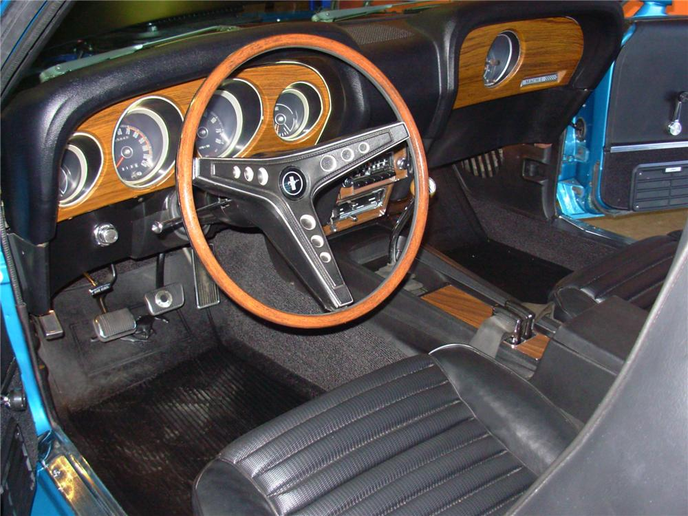 "1969 FORD MUSTANG 428 SCJ ""R"" FASTBACK - Interior - 81379"