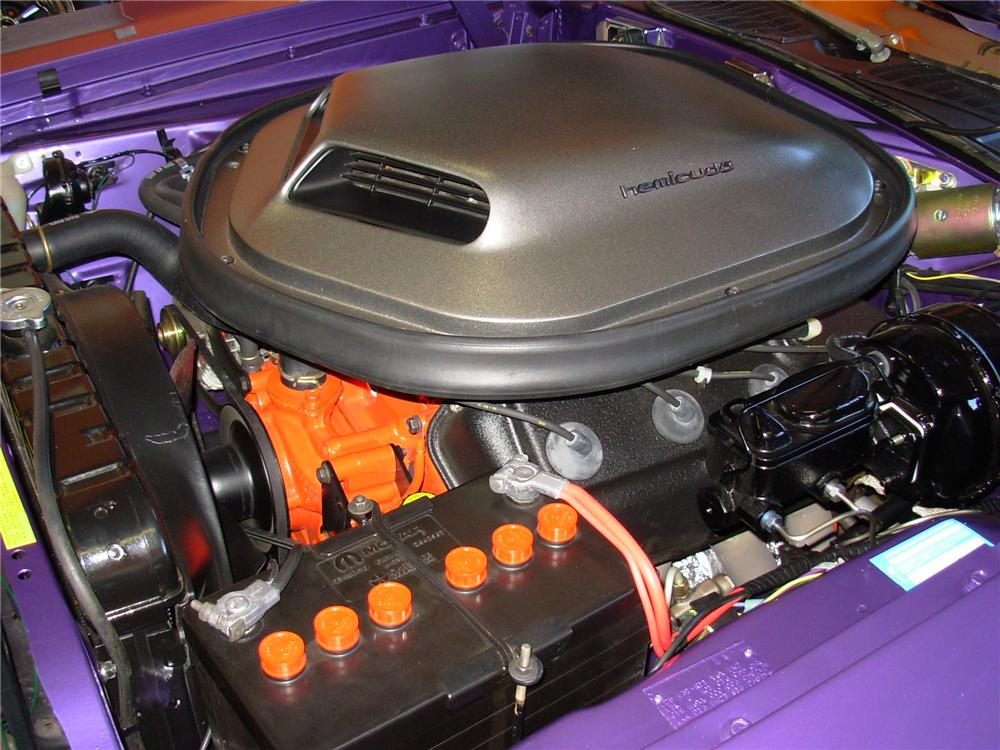 1971 PLYMOUTH CUDA CUSTOM CONVERTIBLE - Engine - 81381