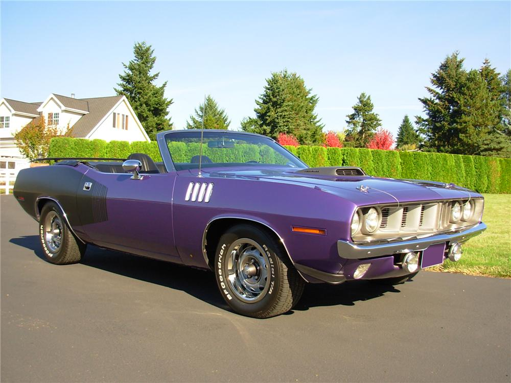 1971 PLYMOUTH CUDA CUSTOM CONVERTIBLE - Front 3/4 - 81381