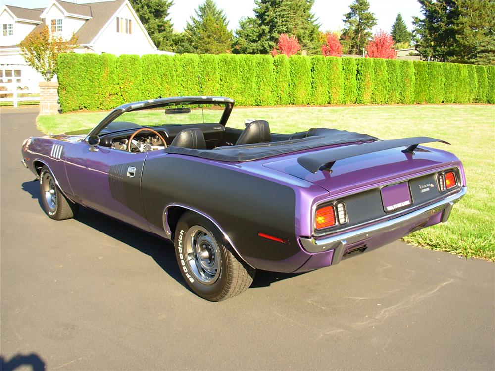 1971 PLYMOUTH CUDA CUSTOM CONVERTIBLE - Rear 3/4 - 81381