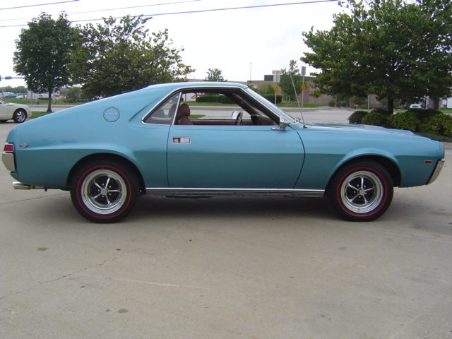 1969 AMERICAN MOTORS AMX 2 DOOR COUPE - Side Profile - 81395