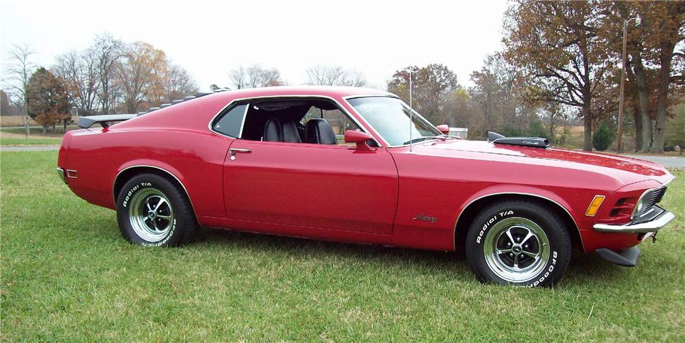 1970 FORD MUSTANG 428 CJ FASTBACK - Side Profile - 81404