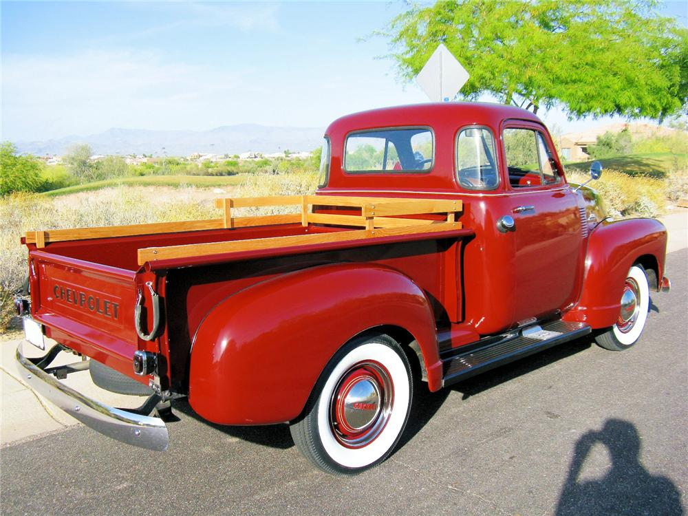 1953 CHEVROLET 3100 PICKUP - Rear 3/4 - 81417