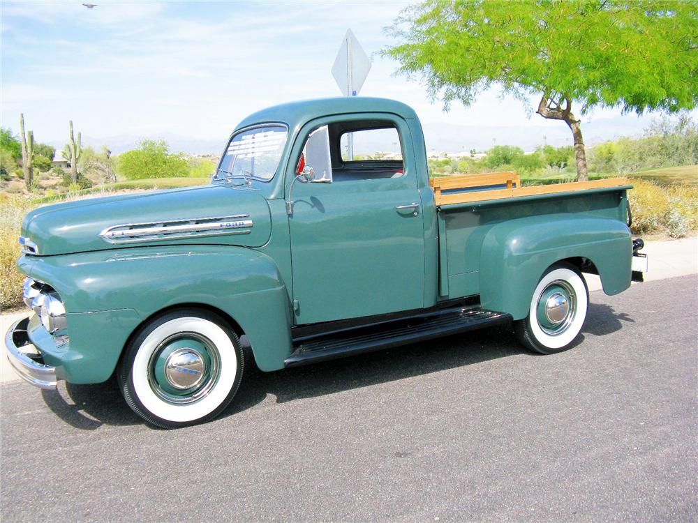 1951 FORD F-1 PICKUP - Side Profile - 81421