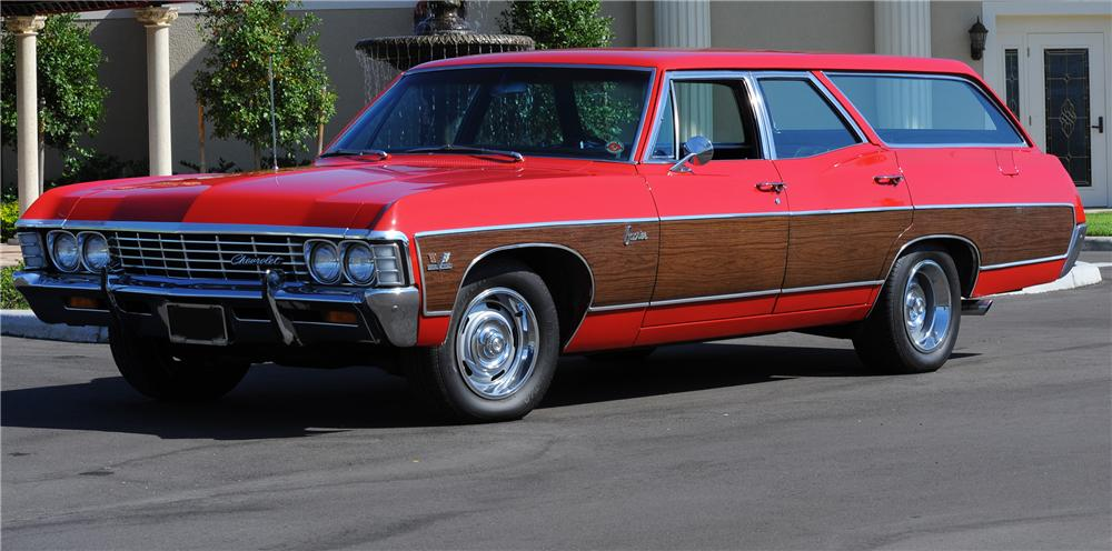 1967 CHEVROLET CAPRICE 4 DOOR WAGON - Front 3/4 - 81430