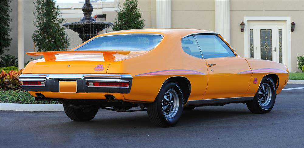 1970 PONTIAC GTO JUDGE 2 DOOR HARDTOP - Rear 3/4 - 81441