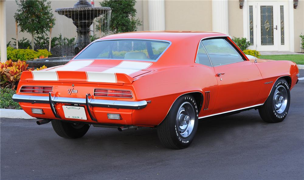 1969 CHEVROLET CAMARO Z/28 COUPE - Rear 3/4 - 81442