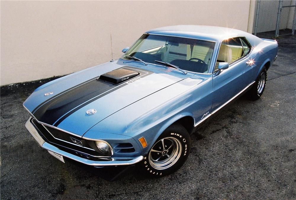 """1970 FORD MUSTANG 428 CJ """"R"""" FASTBACK - Front 3/4 - 81446"""