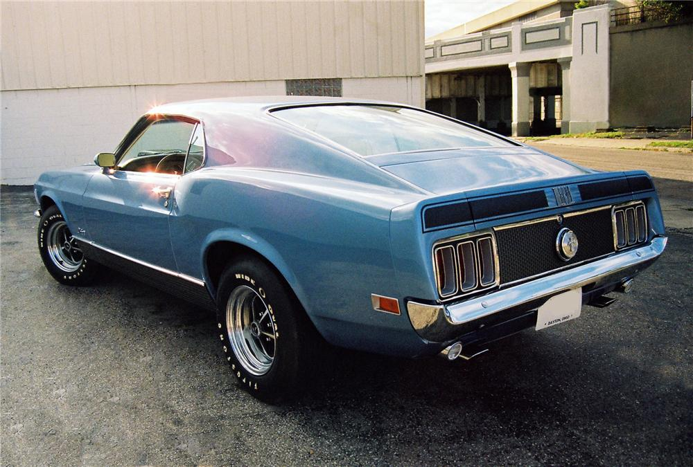 "1970 FORD MUSTANG 428 CJ ""R"" FASTBACK - Rear 3/4 - 81446"