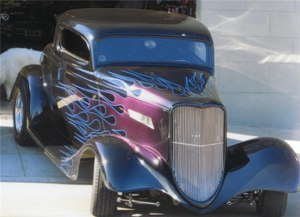 1934 FORD 3 WINDOW CUSTOM COUPE - Front 3/4 - 81450