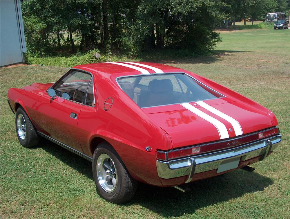 1969 AMERICAN MOTORS AMX 2 DOOR COUPE - Rear 3/4 - 81452