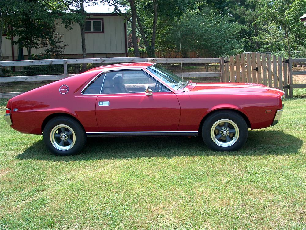 1969 AMERICAN MOTORS AMX 2 DOOR COUPE - Side Profile - 81452