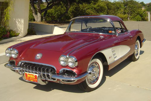 1960 CHEVROLET CORVETTE CONVERTIBLE - Front 3/4 - 81458
