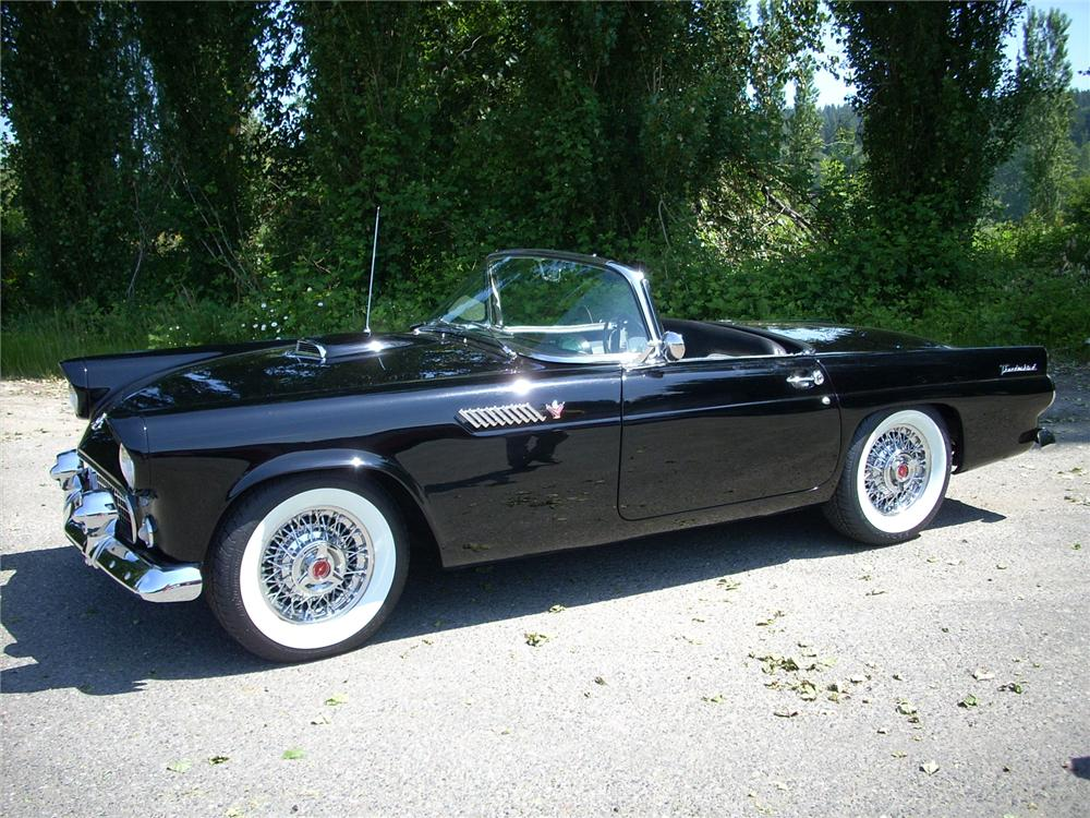 1955 FORD THUNDERBIRD CONVERTIBLE - Front 3/4 - 81461