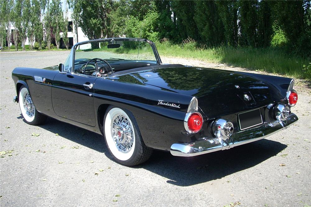 1955 FORD THUNDERBIRD CONVERTIBLE - Rear 3/4 - 81461