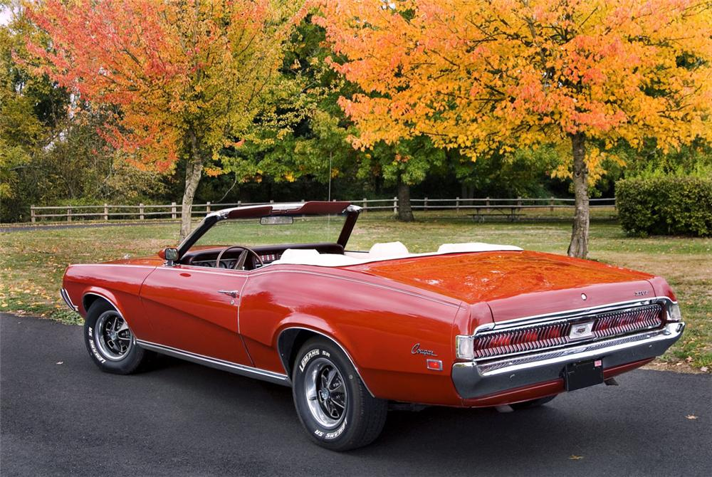 1969 MERCURY COUGAR XR7 CONVERTIBLE - Rear 3/4 - 81549