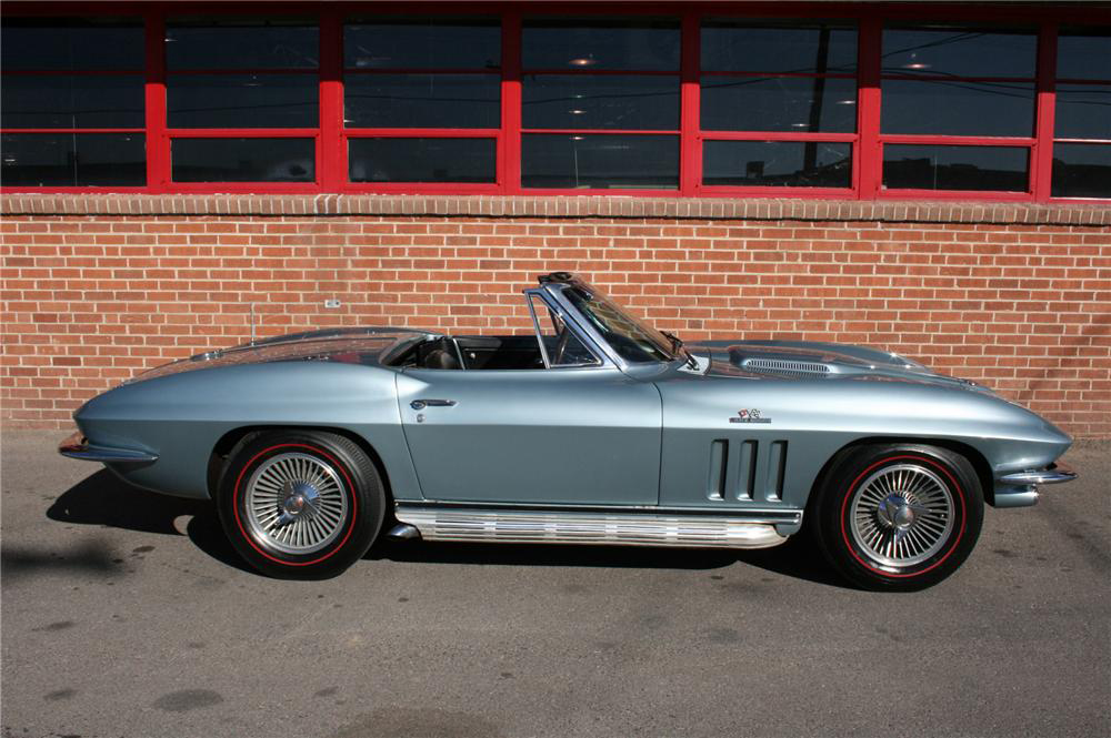 1966 CHEVROLET CORVETTE CONVERTIBLE - Side Profile - 81550