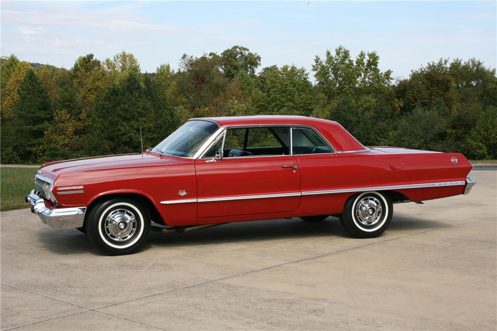 1963 CHEVROLET IMPALA 2 DOOR HARDTOP - Side Profile - 81576