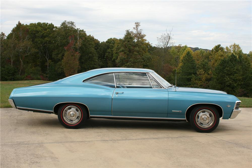 1967 CHEVROLET IMPALA SS 2 DOOR HARDTOP - Side Profile - 81577