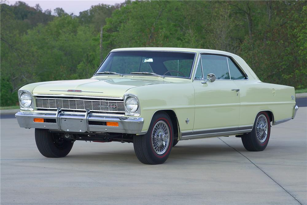 1966 CHEVROLET NOVA 2 DOOR COUPE - Front 3/4 - 81587
