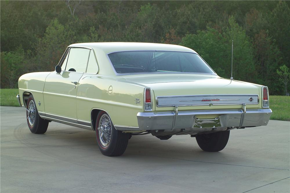 1966 CHEVROLET NOVA 2 DOOR COUPE - Rear 3/4 - 81587