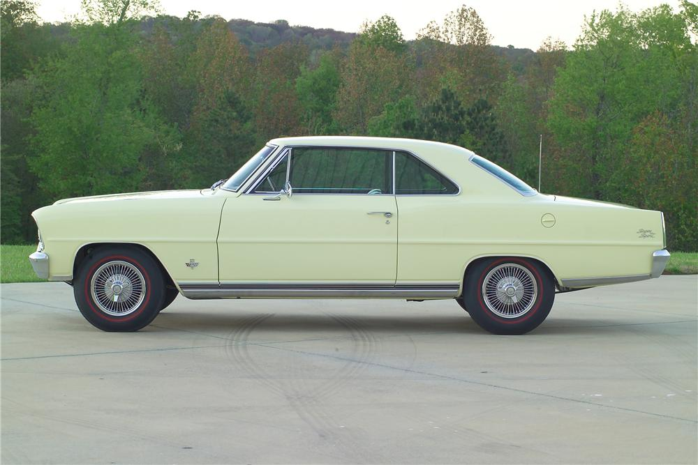 1966 CHEVROLET NOVA 2 DOOR COUPE - Side Profile - 81587
