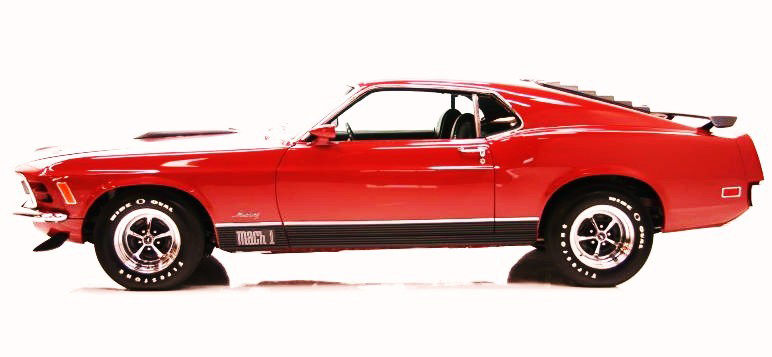 1970 FORD MUSTANG MACH 1 FASTBACK - Side Profile - 81605