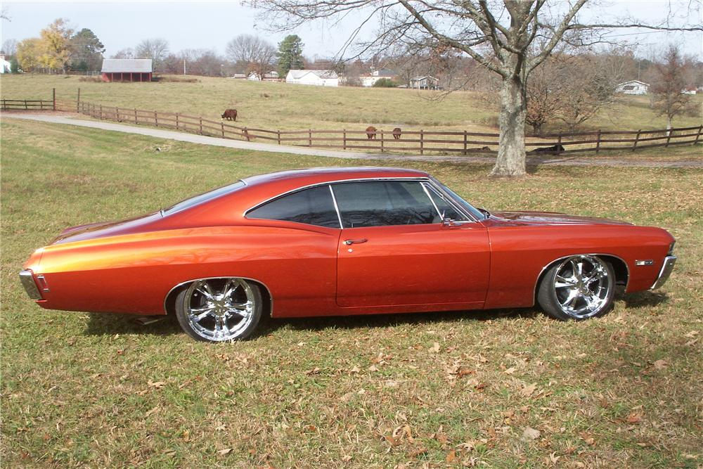 1968 CHEVROLET IMPALA CUSTOM SPORT COUPE - Side Profile - 81610