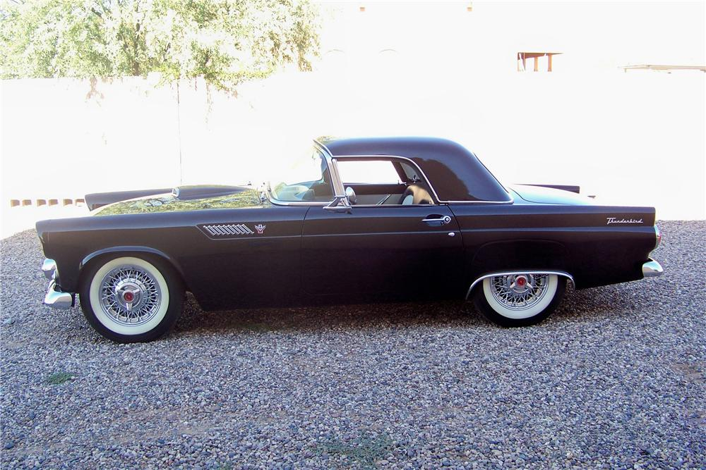 1955 FORD THUNDERBIRD CONVERTIBLE - Side Profile - 81616