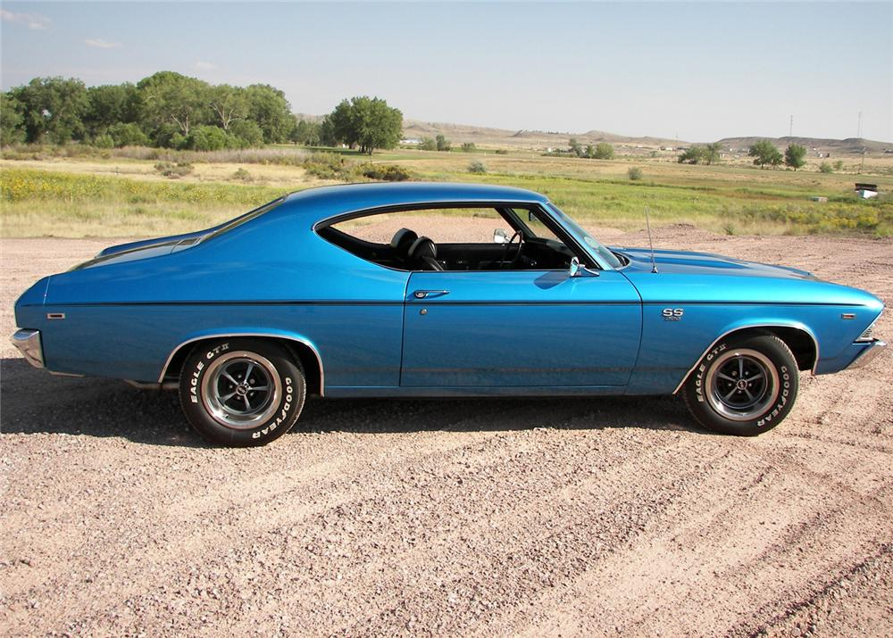 1969 CHEVROLET CHEVELLE SS 396 2 DOOR HARDTOP - Side Profile - 81622