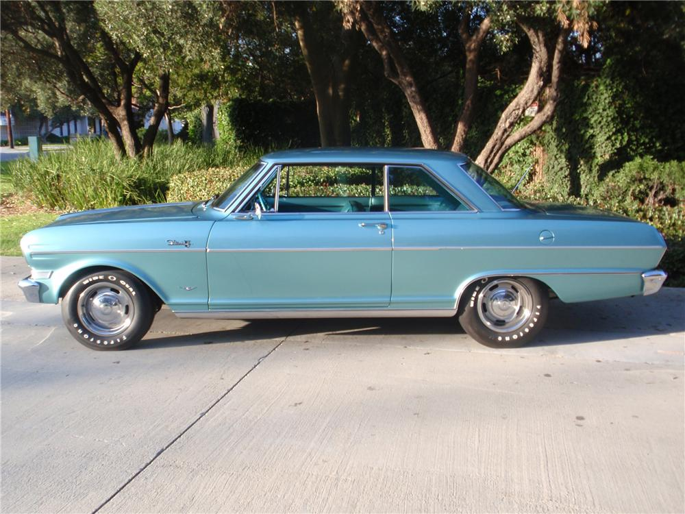 1964 CHEVROLET CHEVY II NOVA 2 DOOR SPORT COUPE - Side Profile - 81629